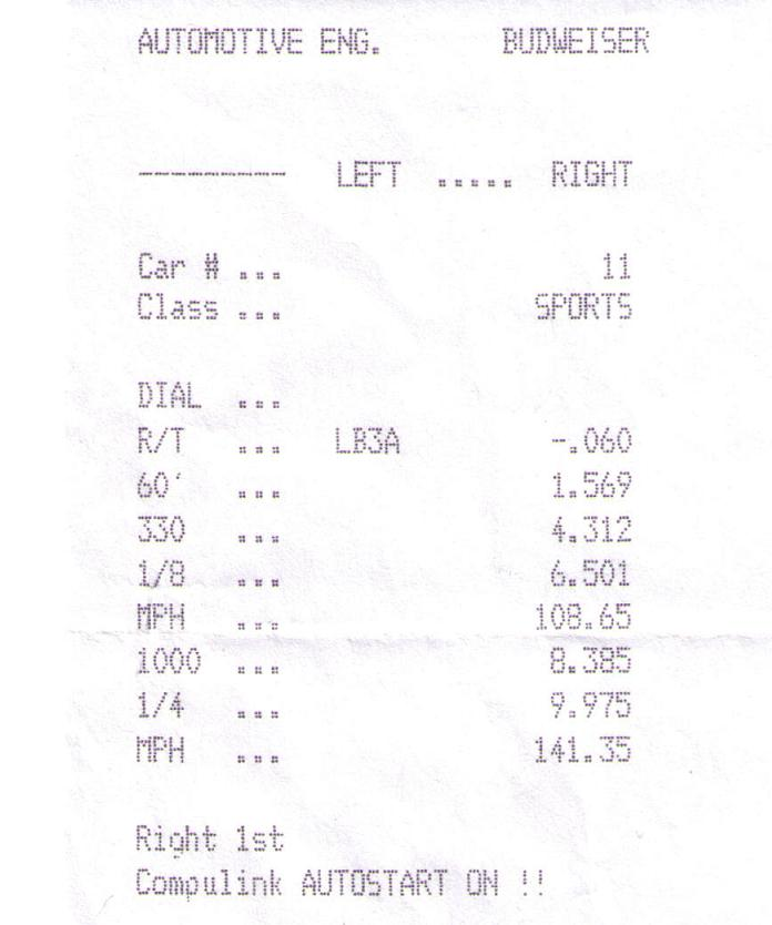 1990 Plymouth Laser RS Turbo Timeslip Scan