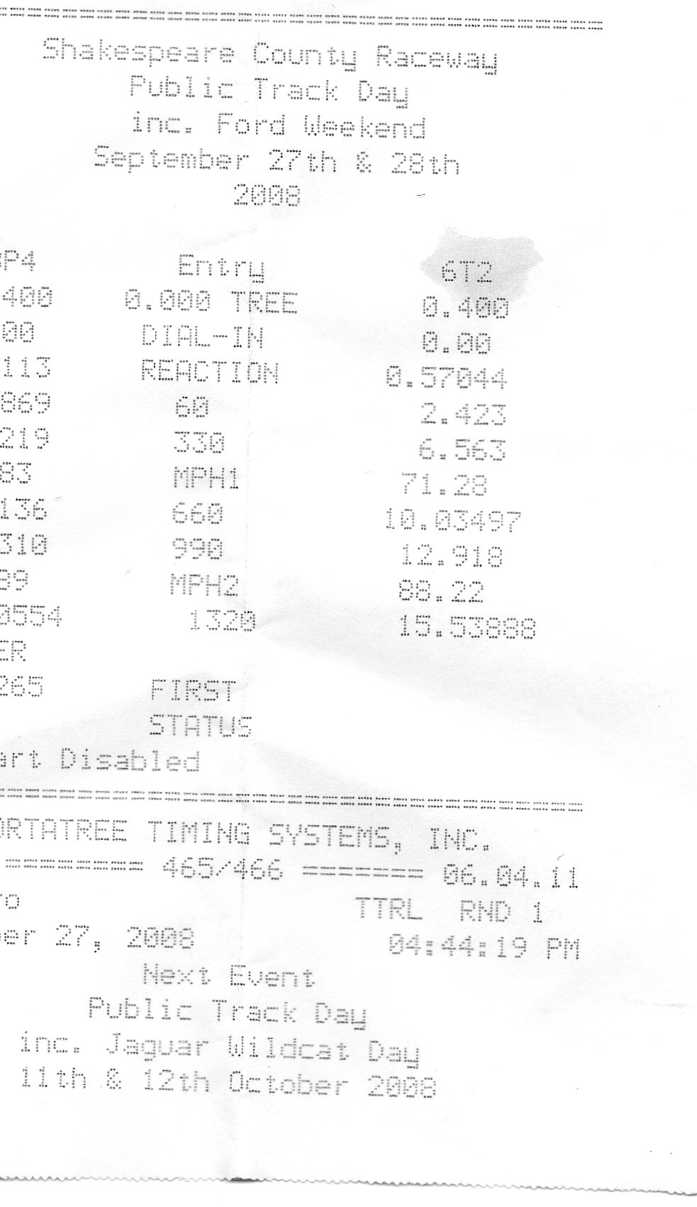 2004 Pontiac Grand Am SE V6 Timeslip Scan
