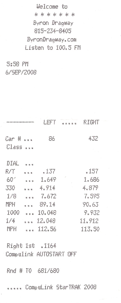 Oldsmobile Cutlass Supreme Timeslip Scan