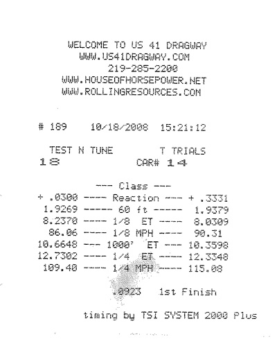 2002  Mercedes-Benz C32 AMG EuroCharged Performance Timeslip Scan