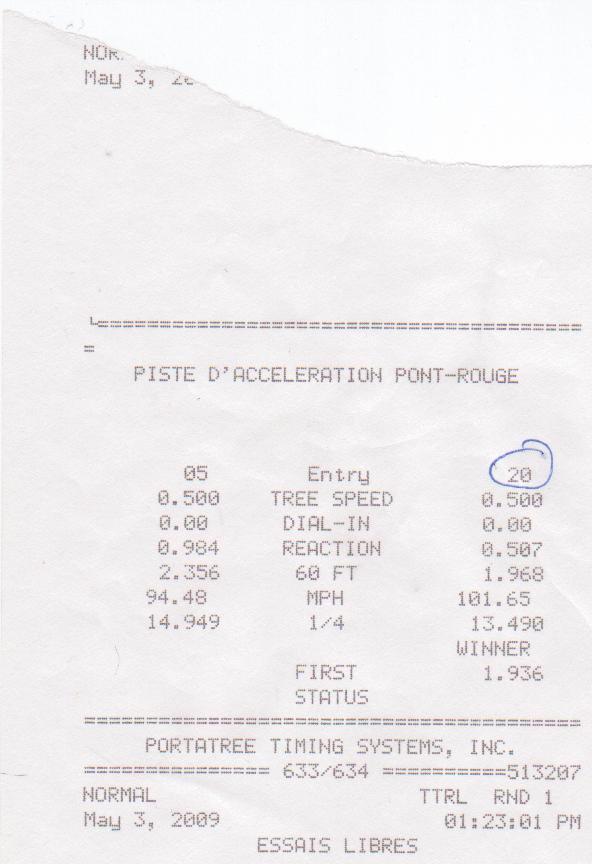 Chrysler 300 Timeslip Scan