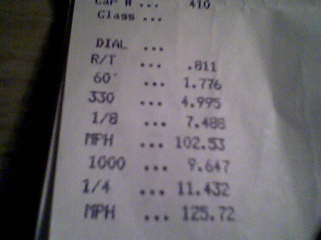 2001  Ford Mustang GT Vortech Supercharger Timeslip Scan