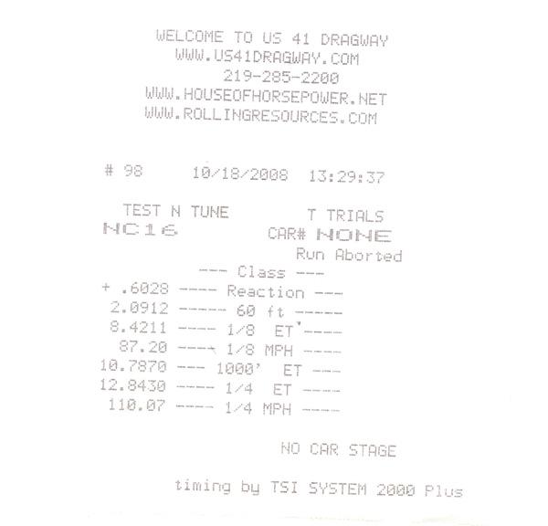 BMW 135i Timeslip Scan