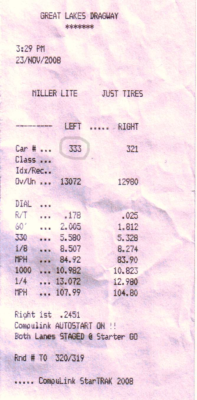 Cadillac STS-V Timeslip Scan