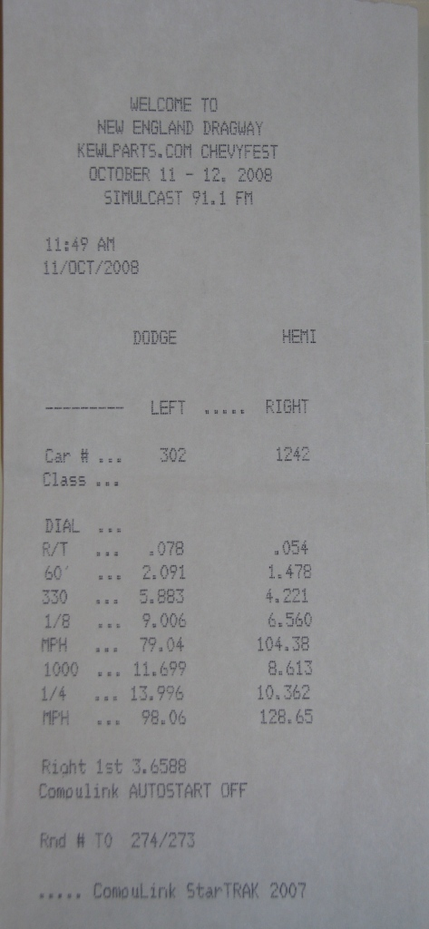 Chevrolet Beretta Timeslip Scan