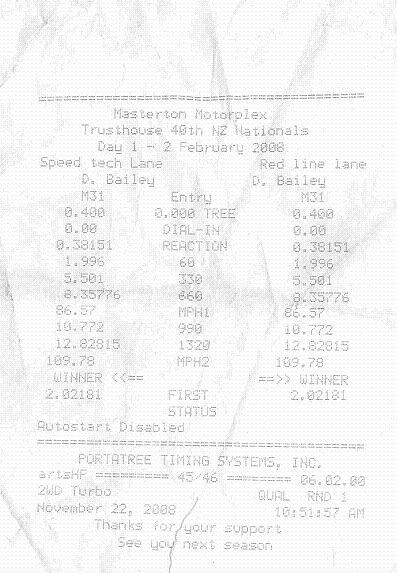 Nissan Skyline Timeslip Scan
