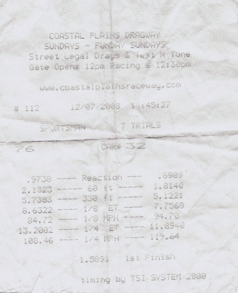 Ford Mustang Shelby-GT500 Timeslip Scan