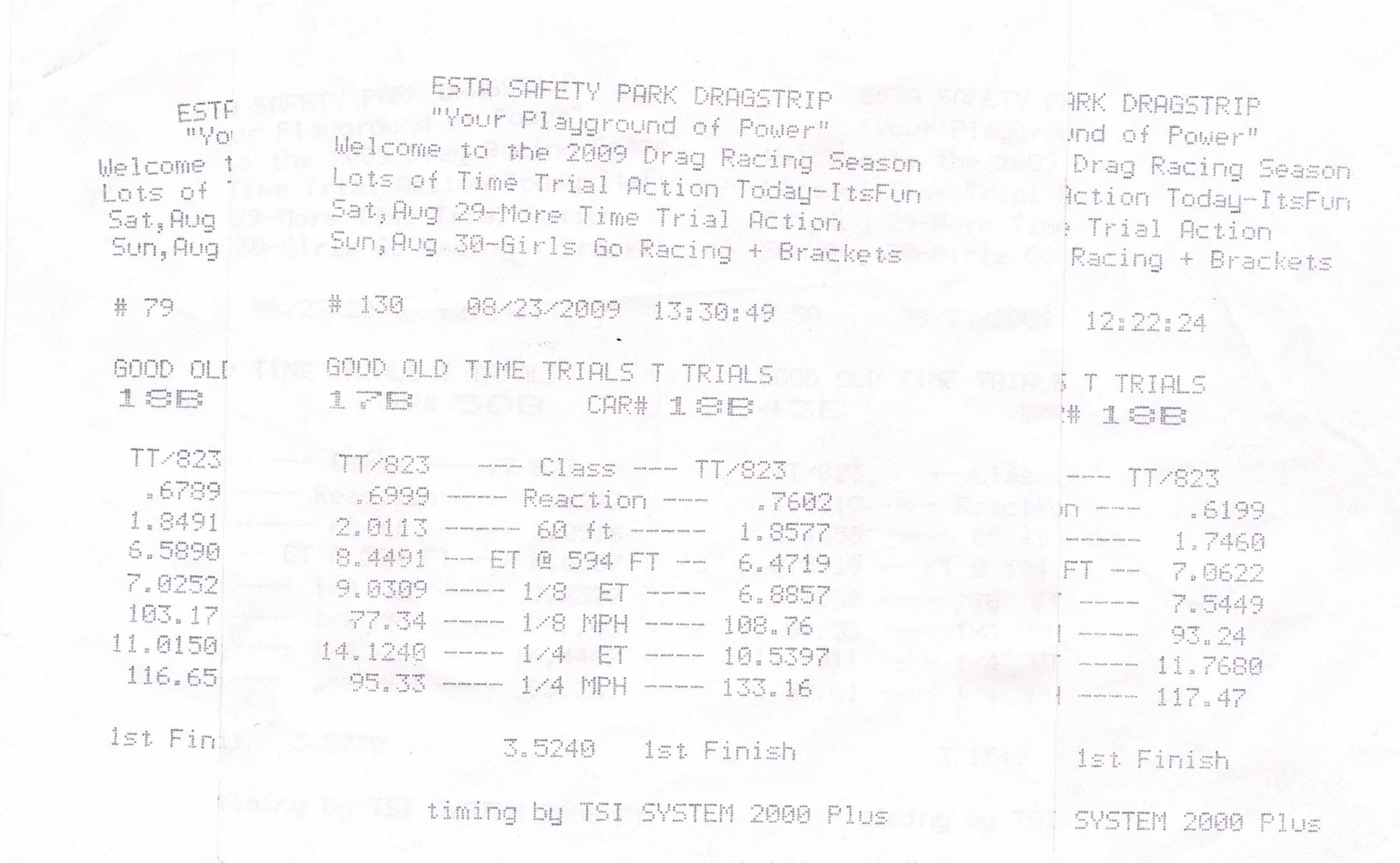 Chevrolet Camaro Timeslip Scan