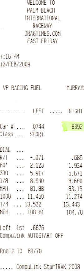 Mazda RX-8 Timeslip Scan