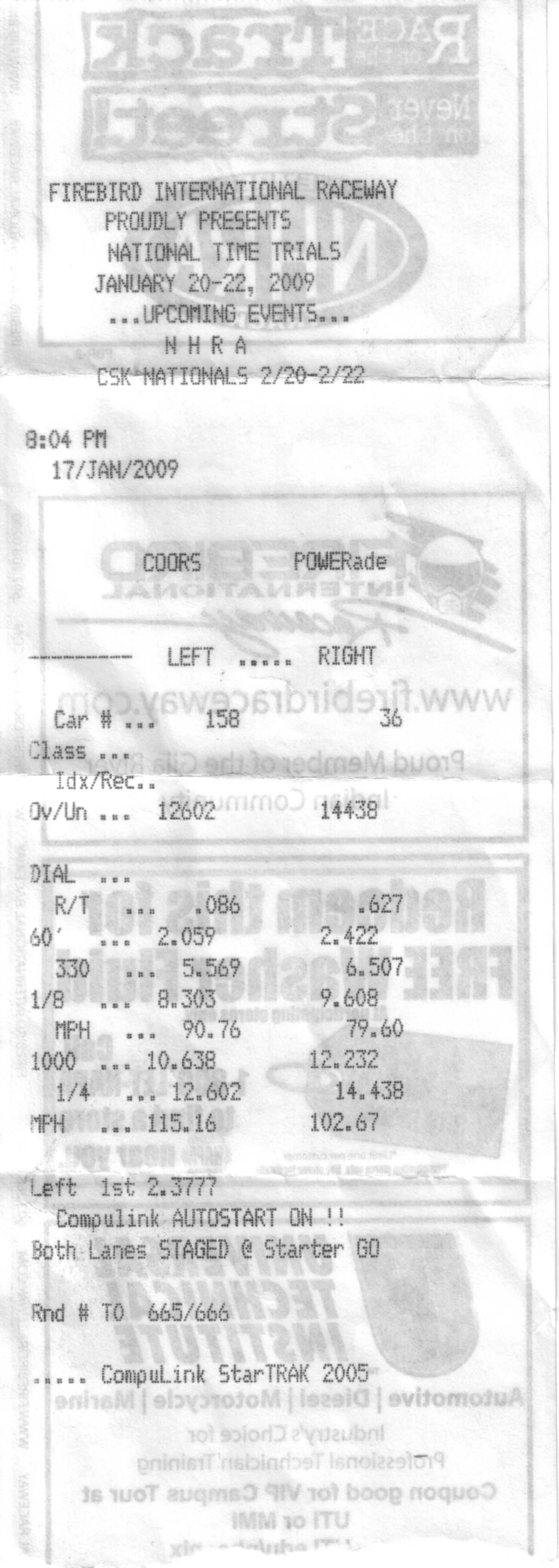 Hyundai Tiburon Timeslip Scan