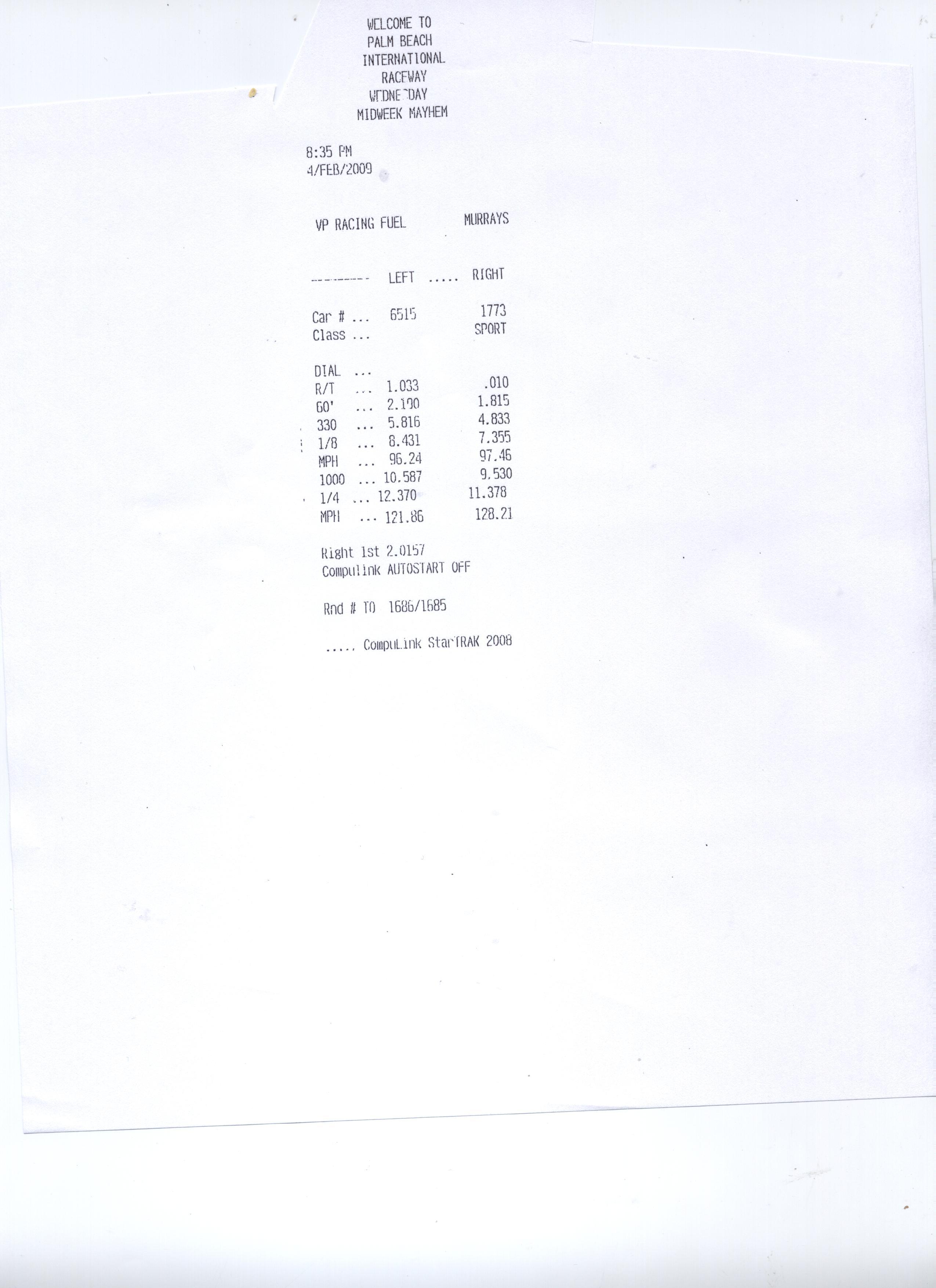 Nissan 350Z Timeslip Scan