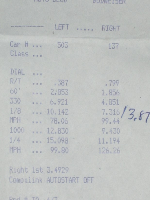 Dodge Viper Timeslip Scan