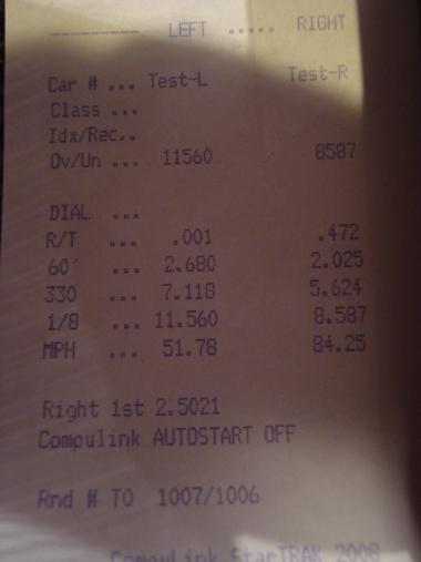Honda S2000 Timeslip Scan