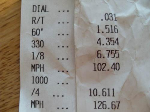 Chevrolet Nova Timeslip Scan
