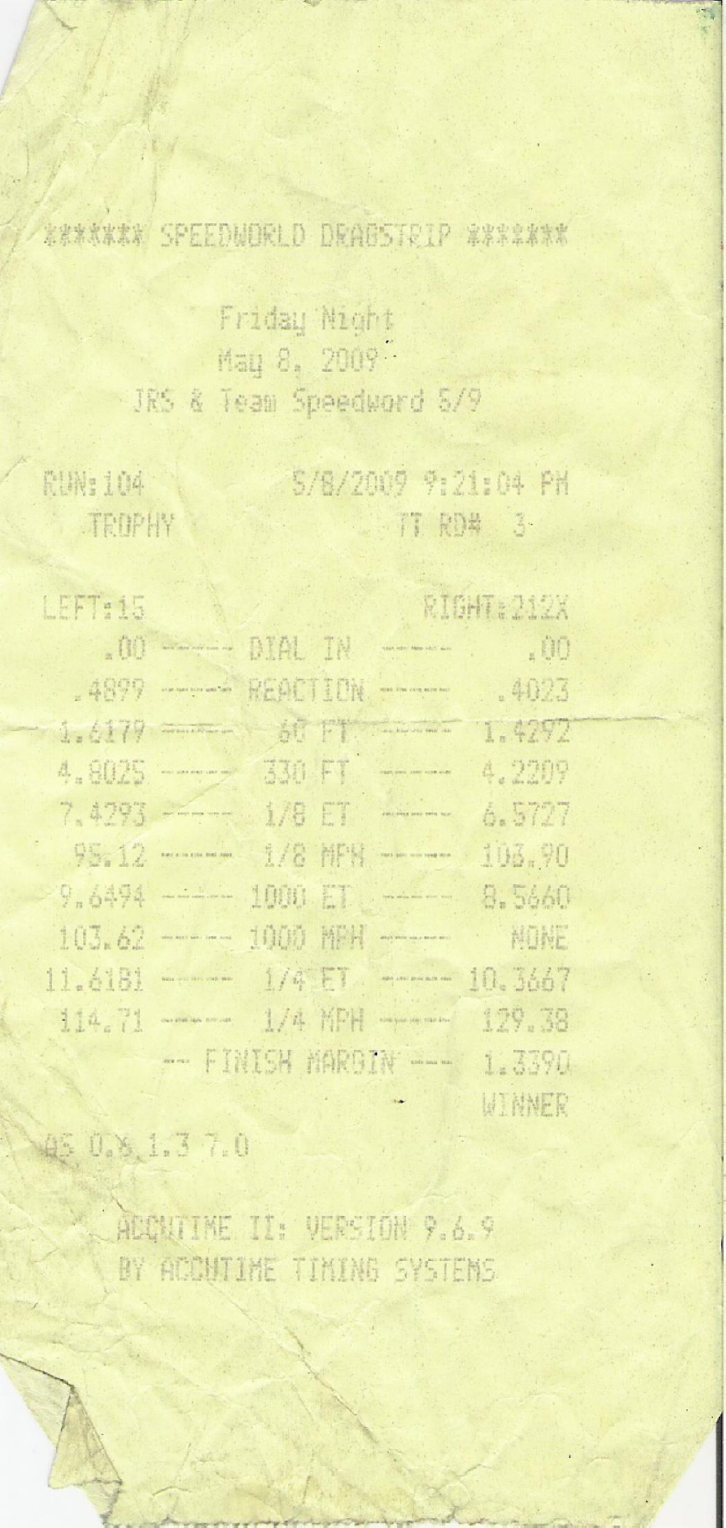 1988 Ford Mustang GT SUPERCHARGER Timeslip Scan