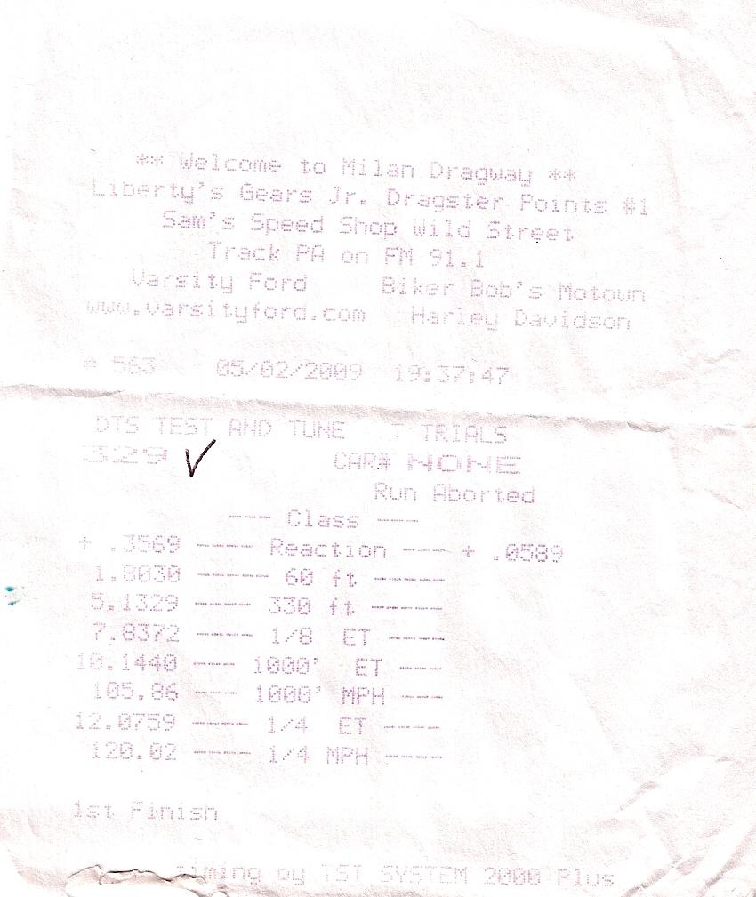 Cadillac CTS-V Timeslip Scan