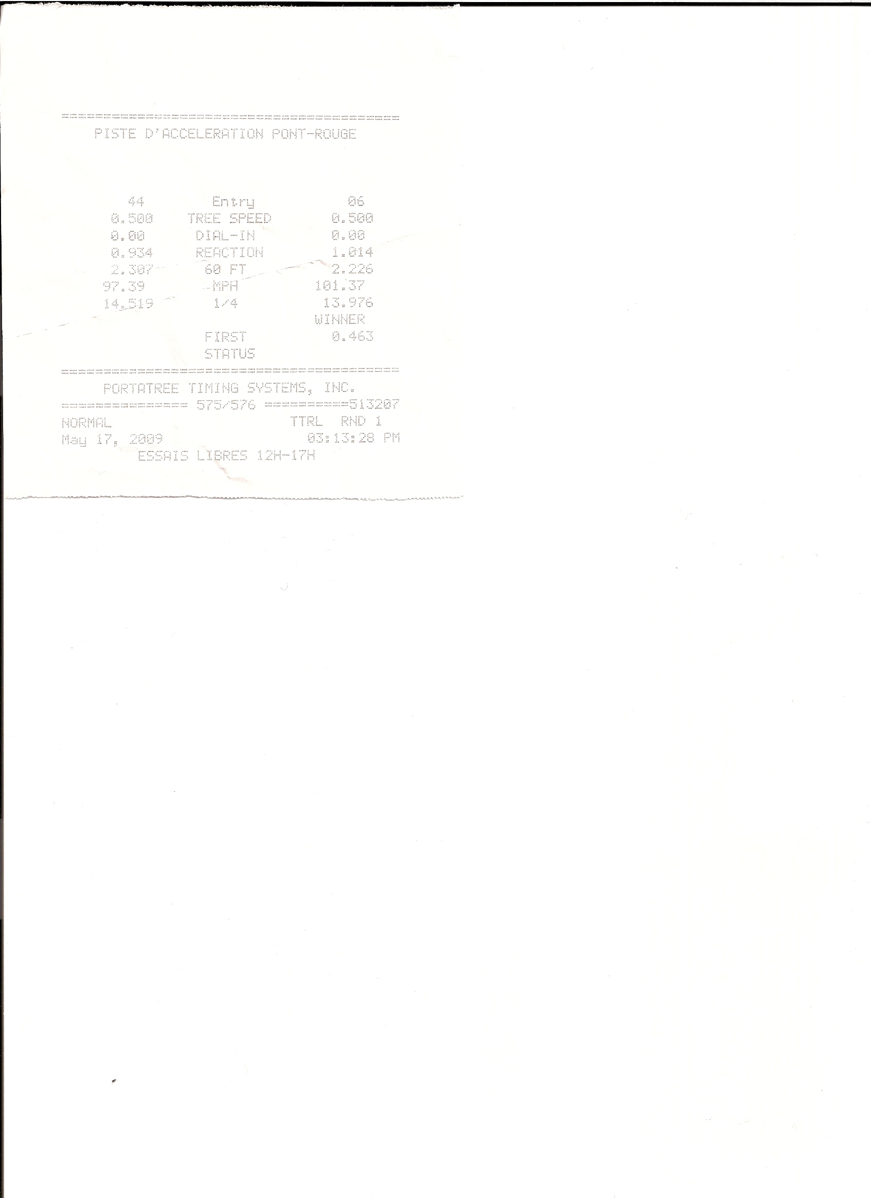 Acura RSX Timeslip Scan