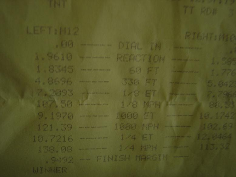 1991 Eagle Talon TSI AWD Timeslip Scan