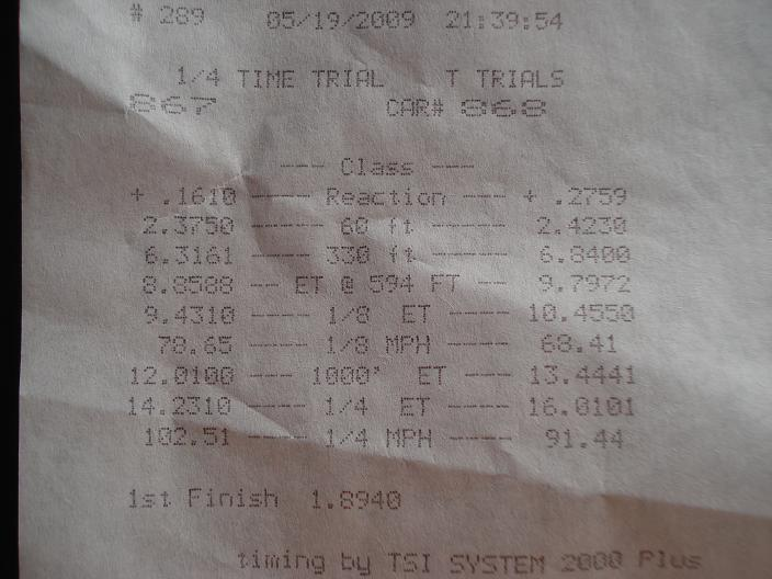2008 Chevrolet Cobalt SS Turbocharged Timeslip Scan