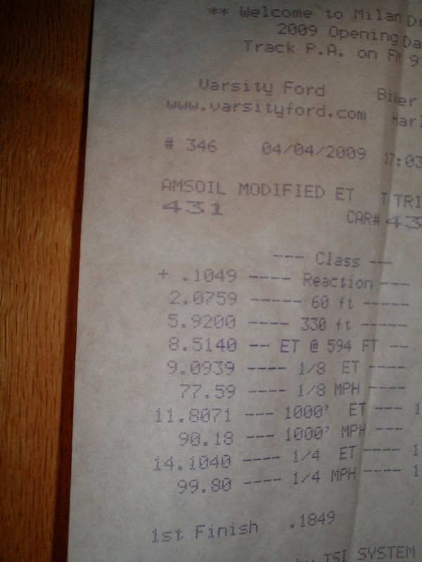 1998 Dodge Neon ACR Timeslip Scan