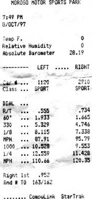1993  Mazda RX-7 Base Timeslip Scan