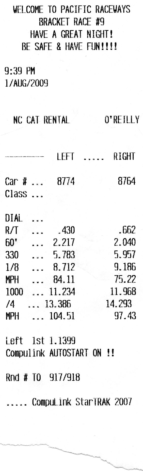1968  Ford Mustang GT COUPE Timeslip Scan