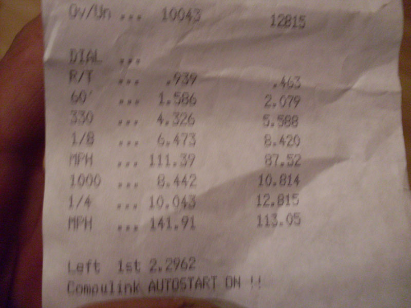 1990  Nissan 240SX Turbonetics T3/T4 50 Trim Turbo Timeslip Scan