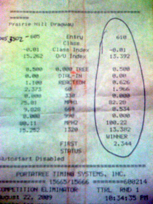 Mitsubishi Lancer Timeslip Scan