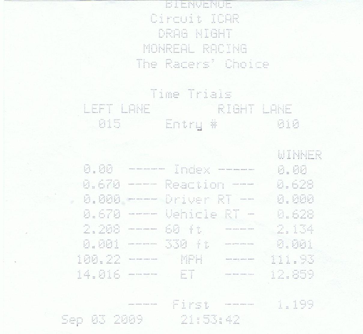 Nissan Altima Timeslip Scan
