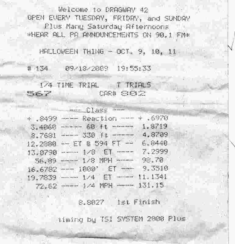 Nissan GT-R Timeslip Scan