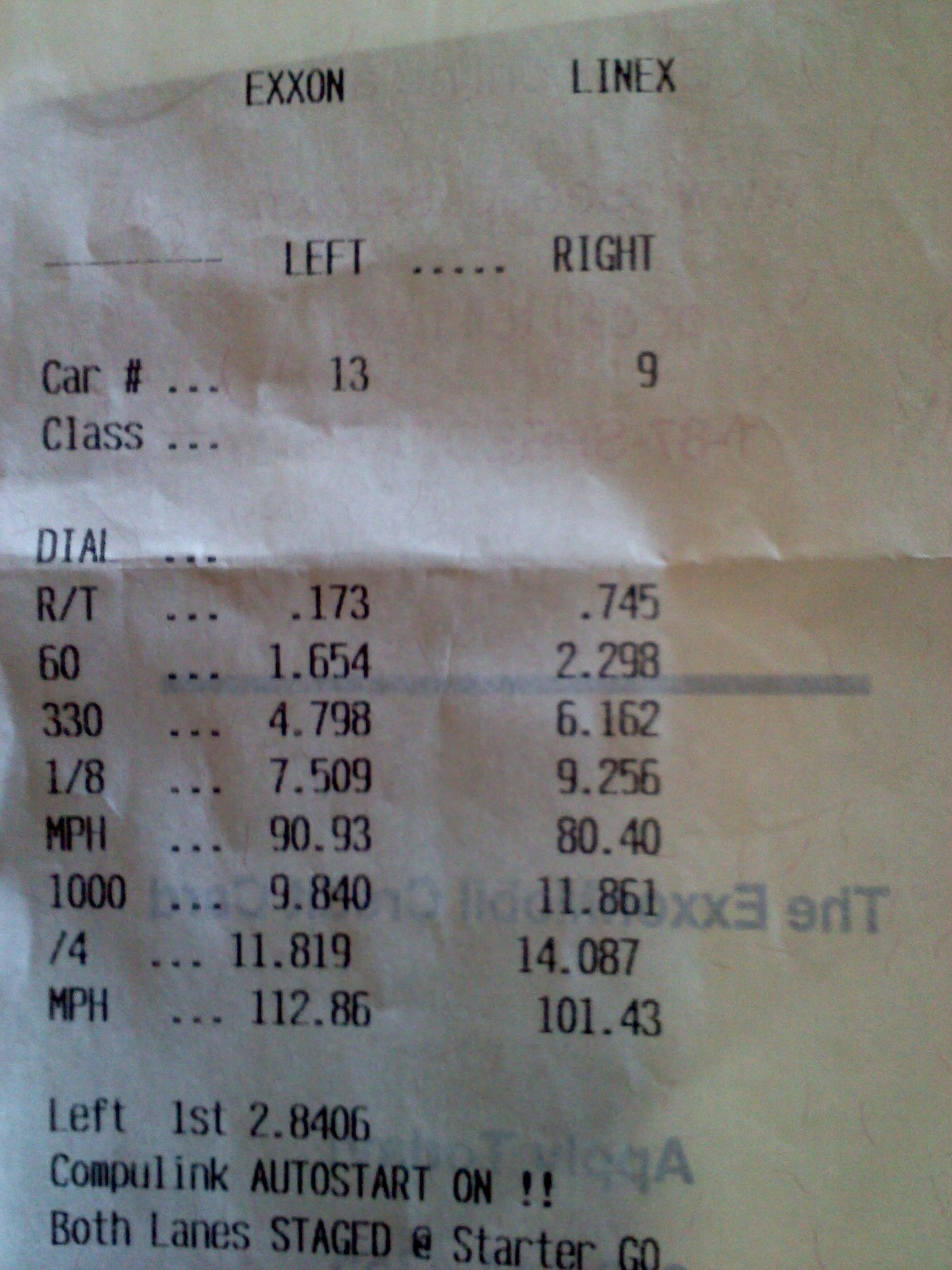 Ford Mustang Timeslip Scan
