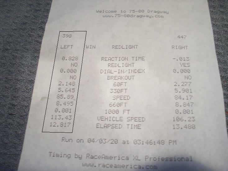 Ford Taurus Timeslip Scan
