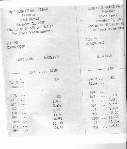 1999  Dodge Dakota RT Timeslip Scan