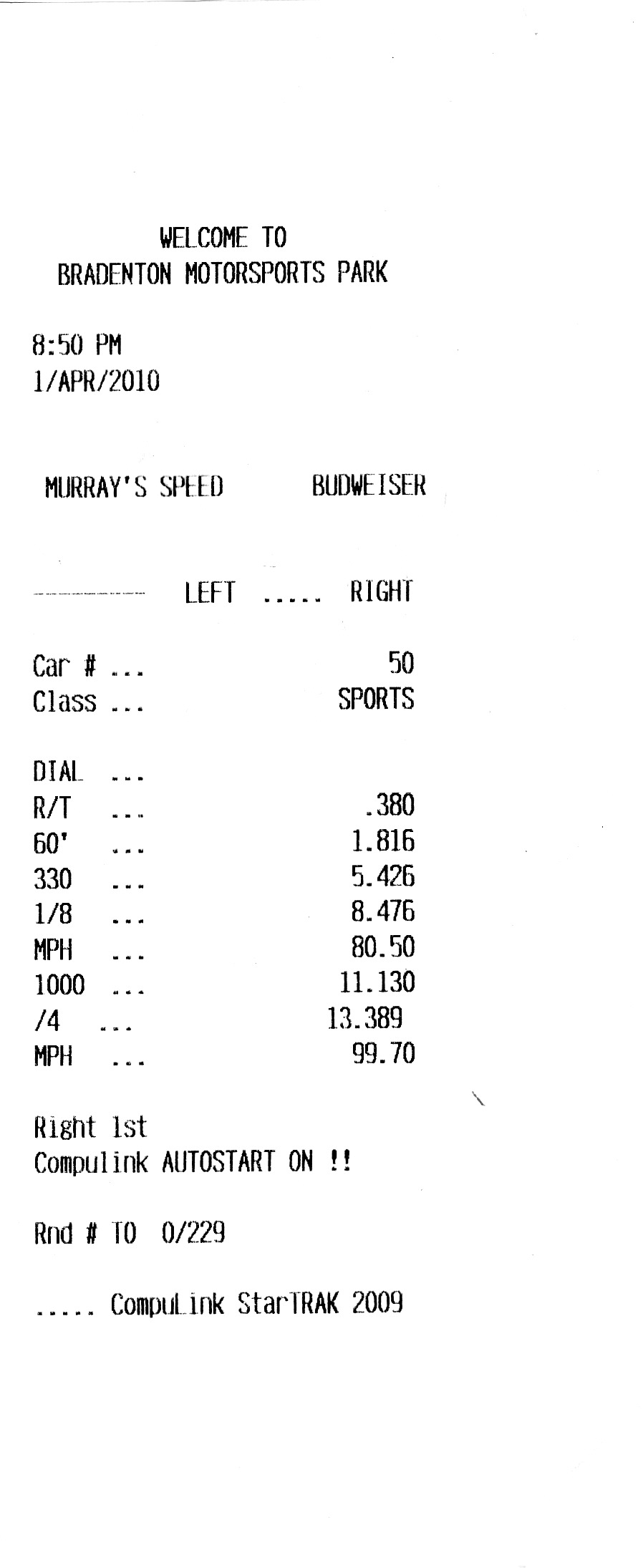 1995  Mazda Miata MX5 Base naturally aspirated Timeslip Scan