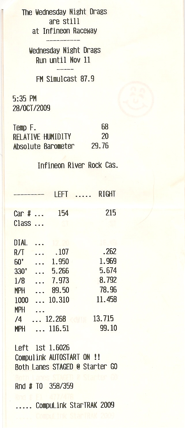 Dodge Challenger SRT8 Timeslip Scan