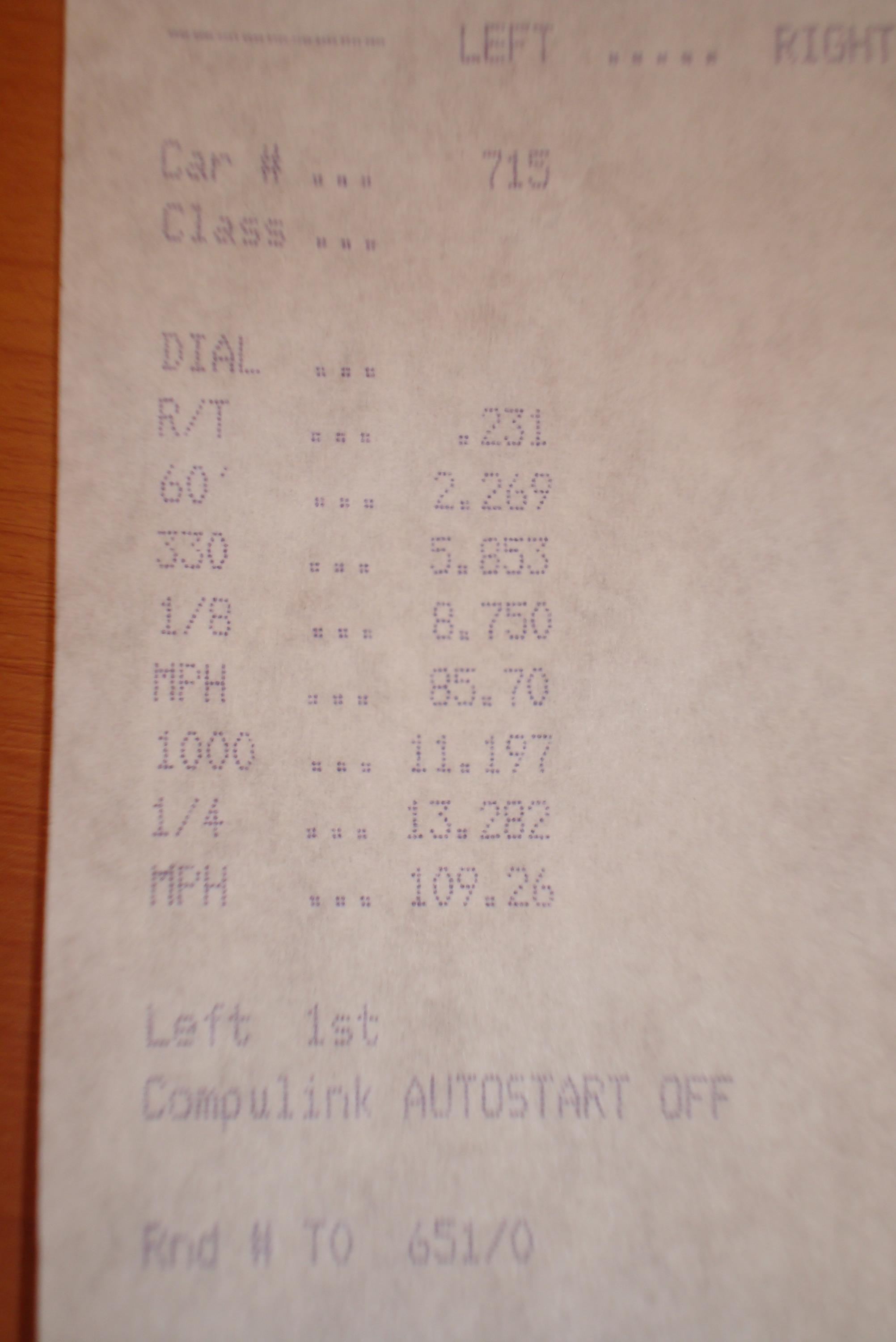 Nissan 350Z Timeslip Scan