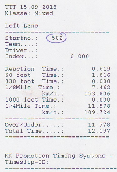 Opel Kadett Timeslip Scan