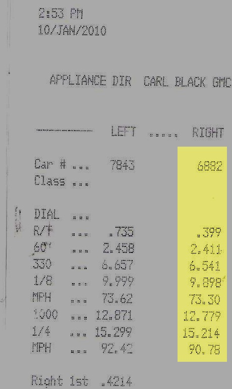 2000  Honda Civic Si Timeslip Scan