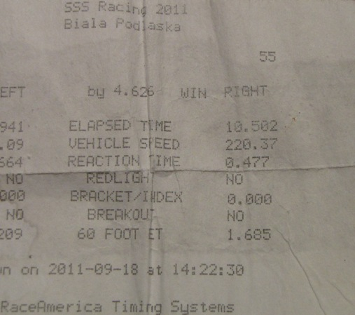 1991  Honda Civic ProTurbo Timeslip Scan