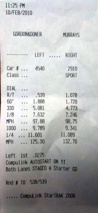 Mercedes-Benz C63 AMG Timeslip Scan
