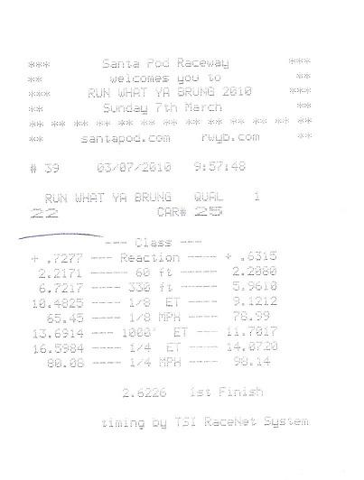 Suzuki SX4 Timeslip Scan