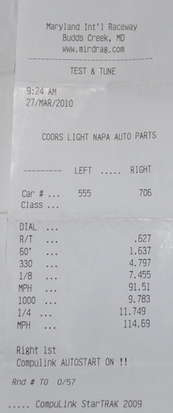 Ford F150 Lightning Timeslip Scan