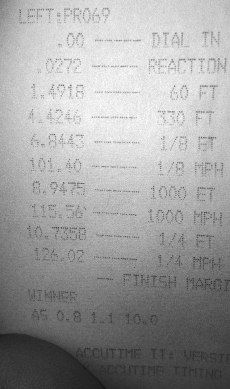 Chevrolet S10 Pickup Timeslip Scan