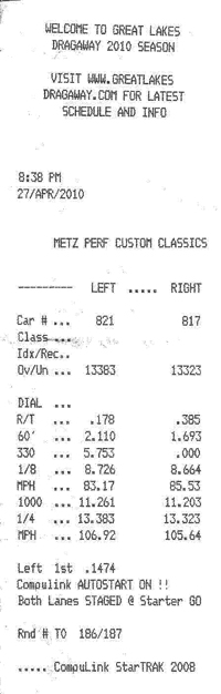 Mercedes-Benz C55 AMG Timeslip Scan