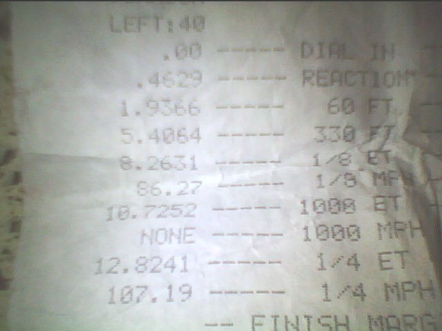 2008 Ford Mustang GT Zex Nitrous Timeslip Scan