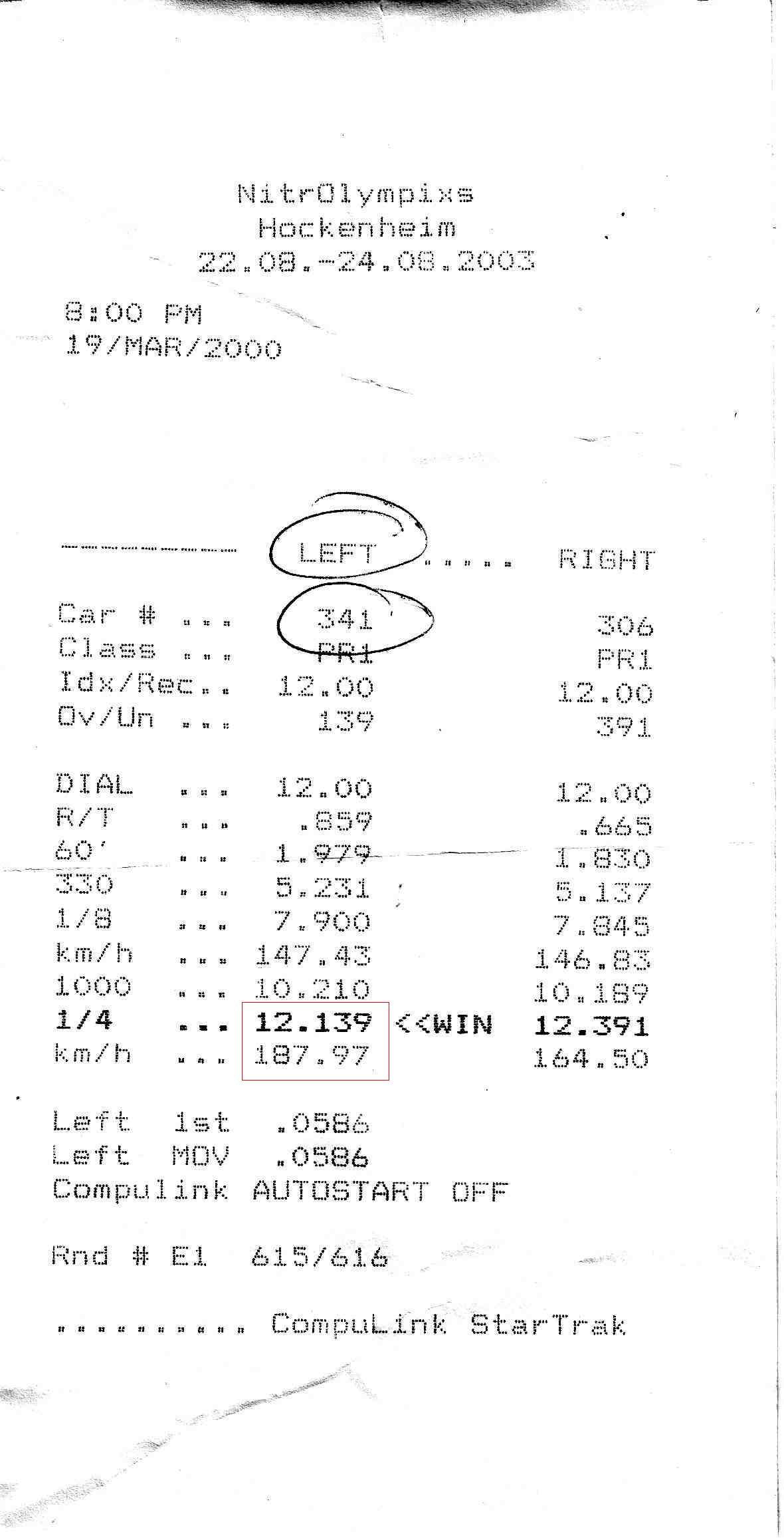 Porsche 944 Timeslip Scan