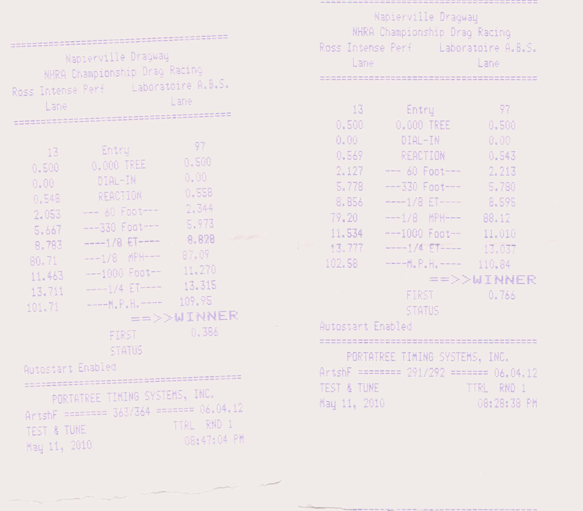 Mitsubishi Lancer EVO Timeslip Scan
