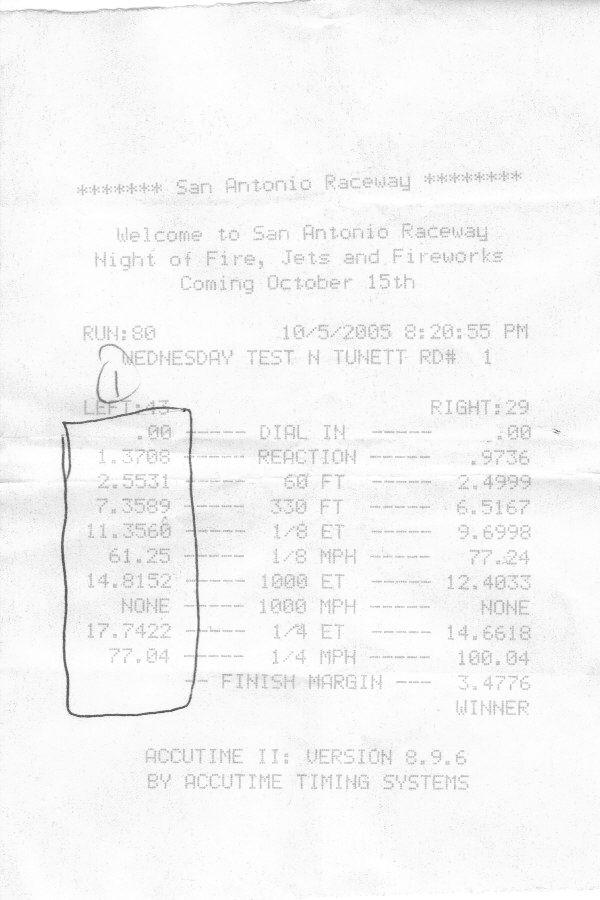 Oldsmobile Ciera Timeslip Scan