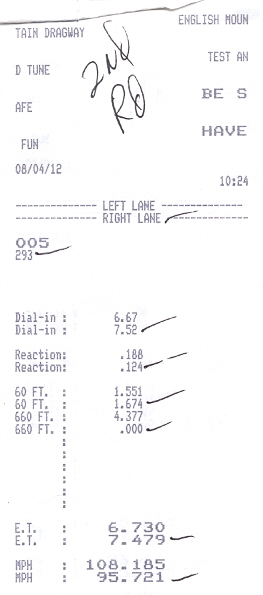 1997 Dodge Dakota SLT Timeslip Scan