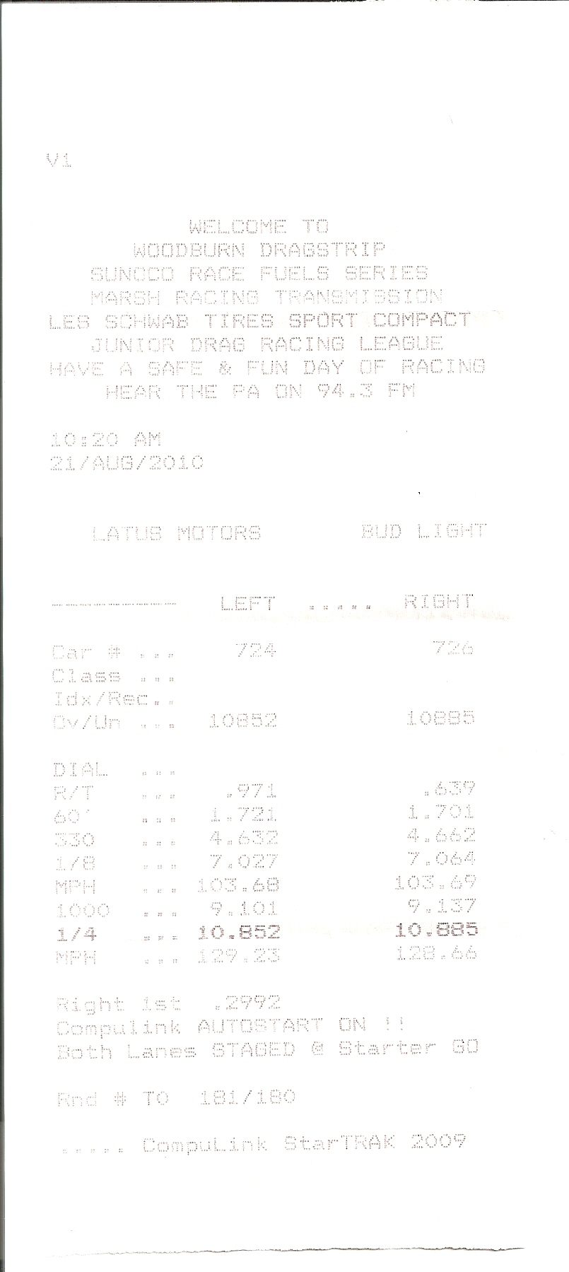 Nissan GT-R Timeslip Scan